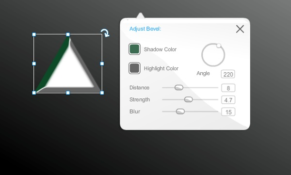 The Wix Editor: Adjusting the Bevel Effect