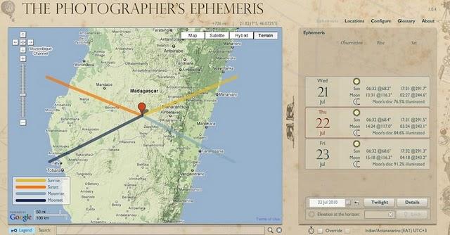 6 Must Have Online Photography Tools  The Photographer's Ephemeris