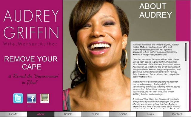Audrey Griffin's website was created with a Wix.com Flash template