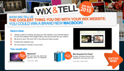 Tell us how you're using Wix and win a brand new Macbook