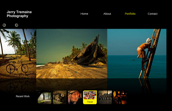 Photography website Jerry Tremaine