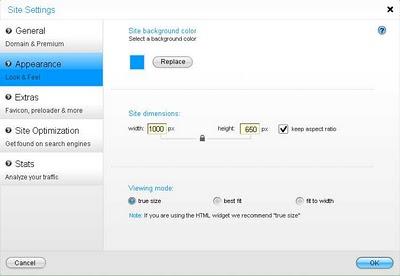 Wix Editor Settings Screen