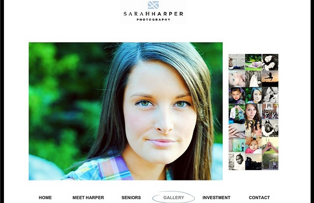 Sarah Harper Photography website created using Wix website builder