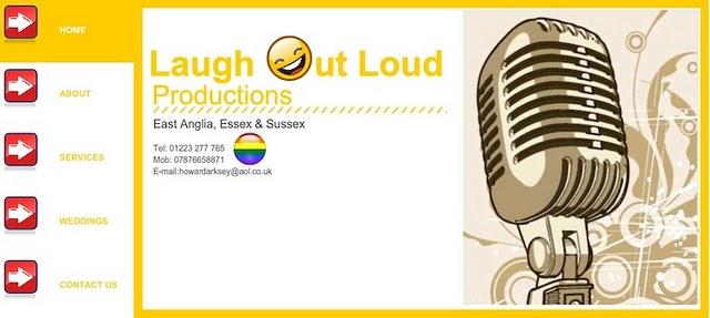 Laugh Out Loud Productions Wix website