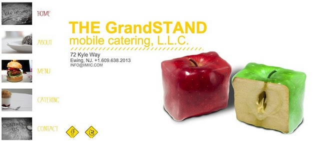 The Grandstand website was created with a wix.com Flash template