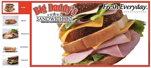 Big Daddy's Sandwich Website has beed created with a Wix.com Flash template