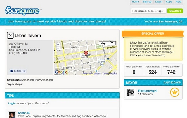 Foursquare- Location based Social Network