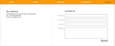 Website Contact Info Page