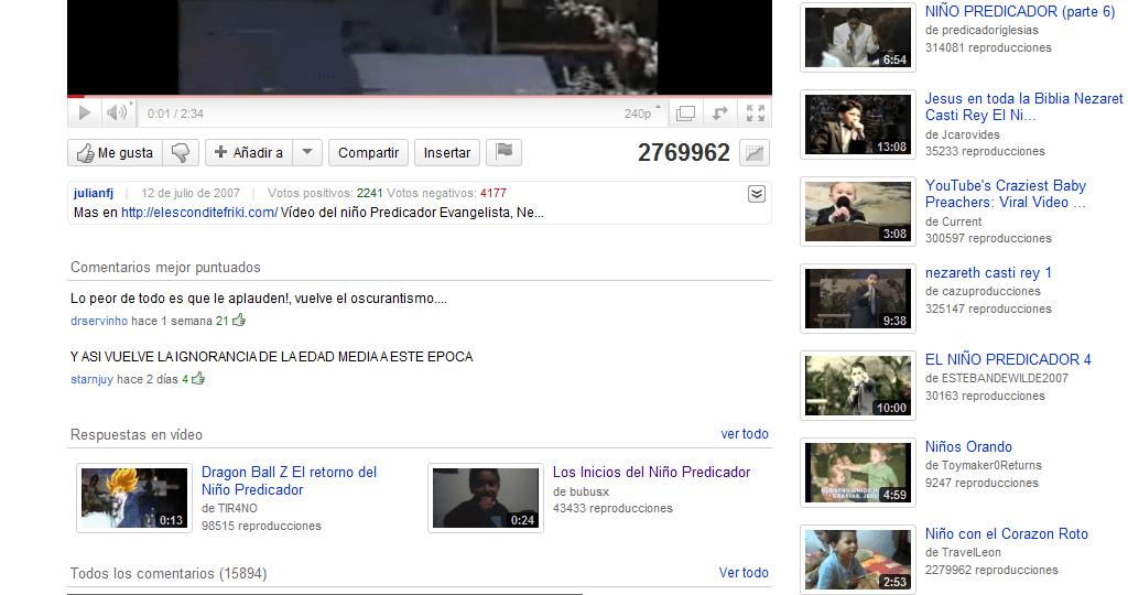 ejemplo de respuestas de video