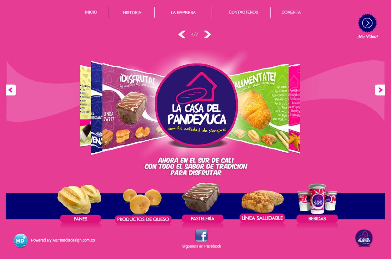 La Casa del Pan de Yuca Página Web