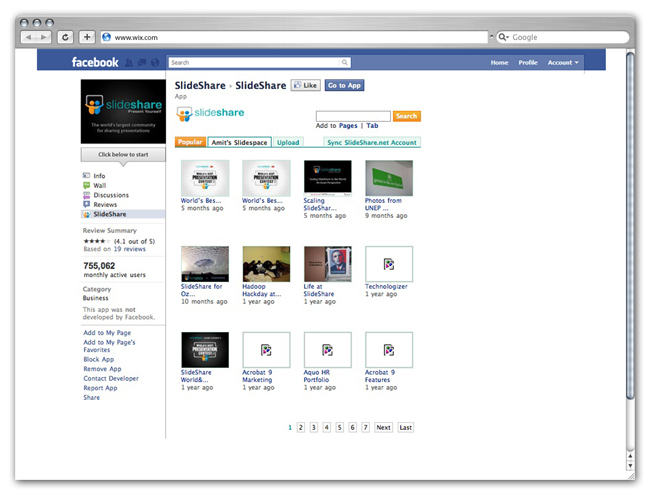 SlideShare for Facebook