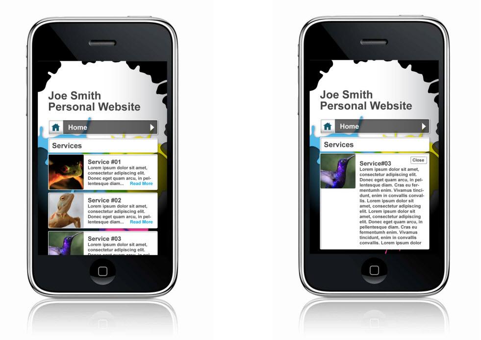 User-friendly mobile web design
