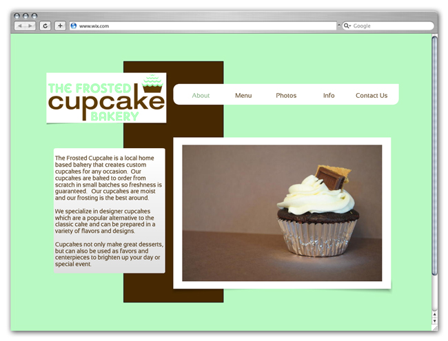 Showcase: Sweet Cupcakes Websites Created With Wix