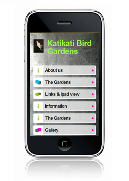 Wix Mobile Showcase: Katikati Bird Gardens