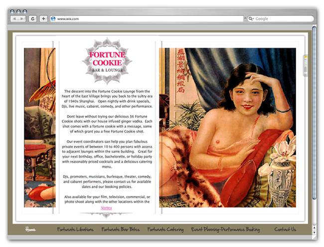 Wix Website Showcase: Event Planning