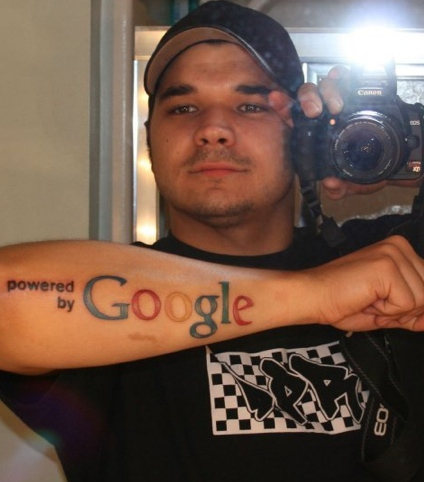 Tattoo Powered by Google