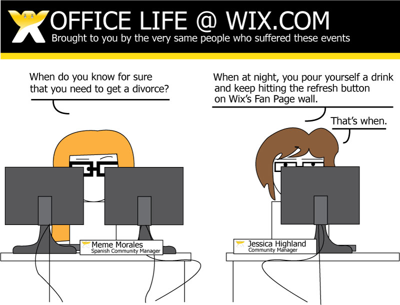 A comic strip about life at Wix.com