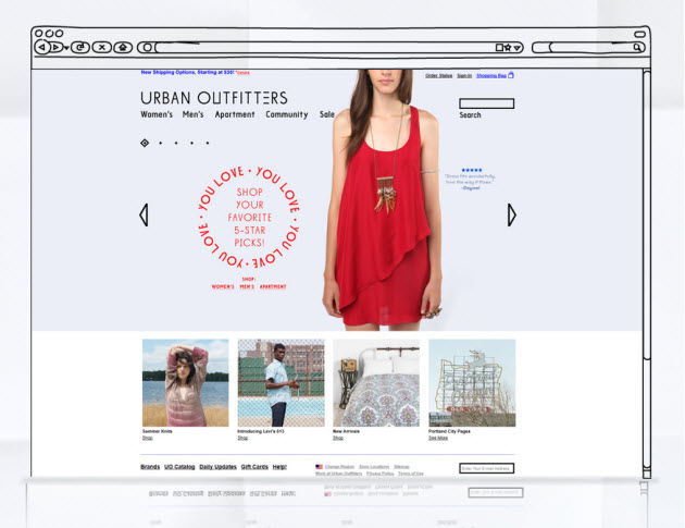 Hot Web Design Trends - Dynamic Header Example 1