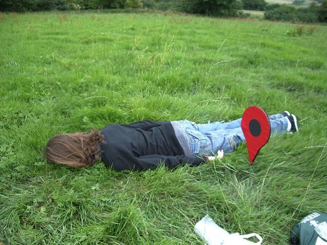 Planking en el cesped