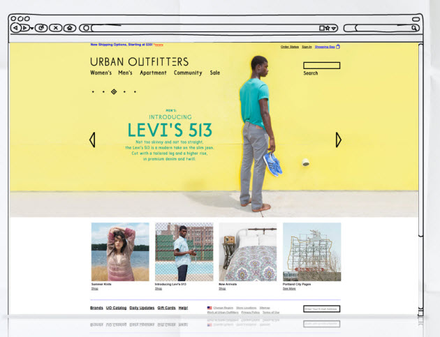 Urban Outfitters awsome website