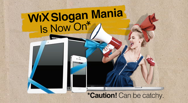 The Wix Slogan Mania Contest