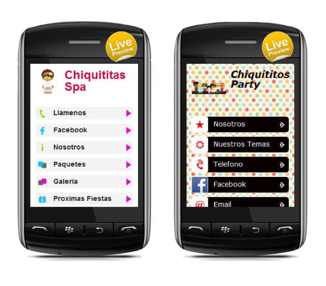 Sitios Móviles de Susana Barroso con WixMobile