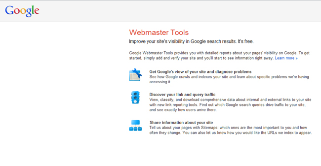 Free Online Business Tools – Google Webmaster Tools