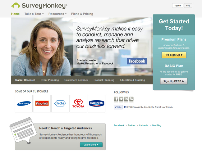 Free Online Business Tools –  Survey Monkey