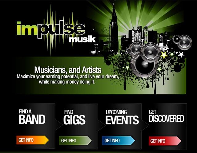 Sitio de una página de impulse-musik