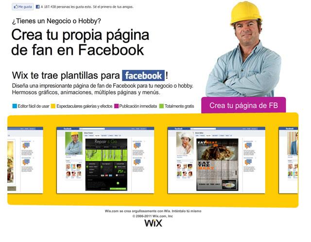 landing page para WixPages