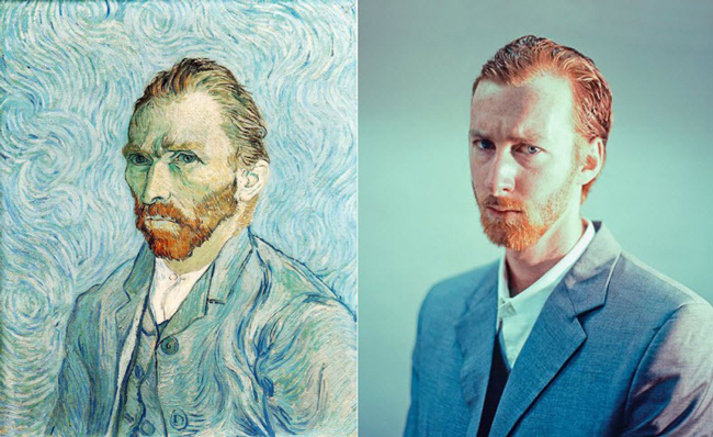 """Self Portrait 1889″ remake by Seth Johnson"