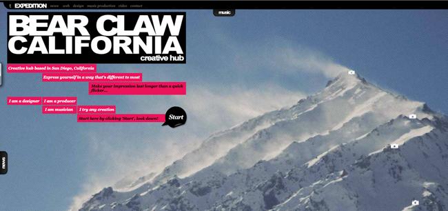 Bear Claw California website