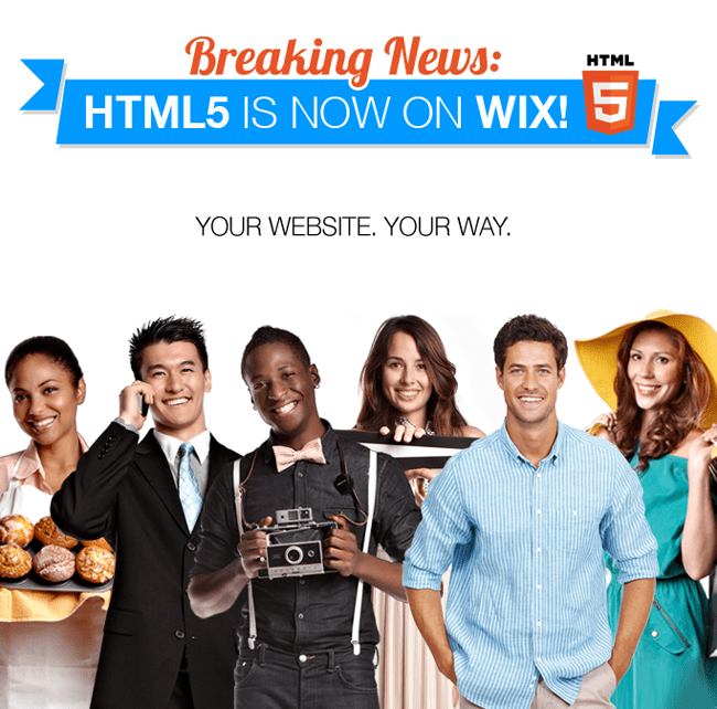 Breaking News: Wix Unveils HTML5 Website Builder!