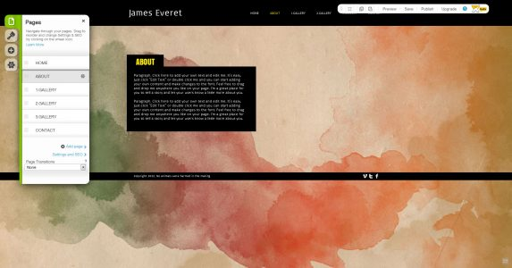 WIX HTML Editor Pages