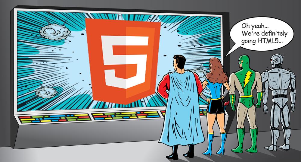 super heroes choose HTML5