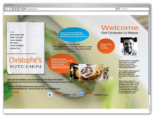 Chef Christophe Website