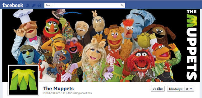 The Muppets facebook cover