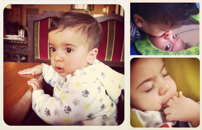 Itamar the baby playing