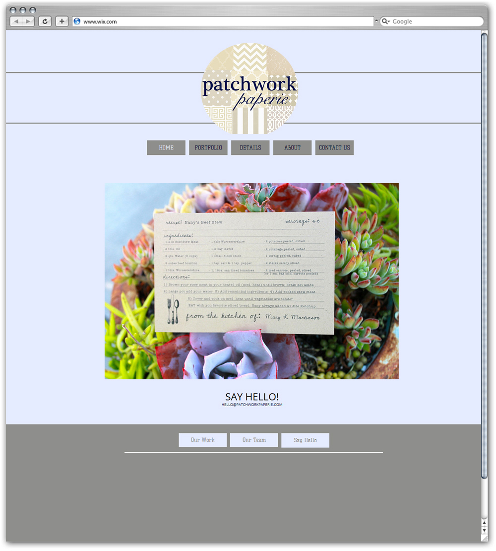 Patchwork Paperie