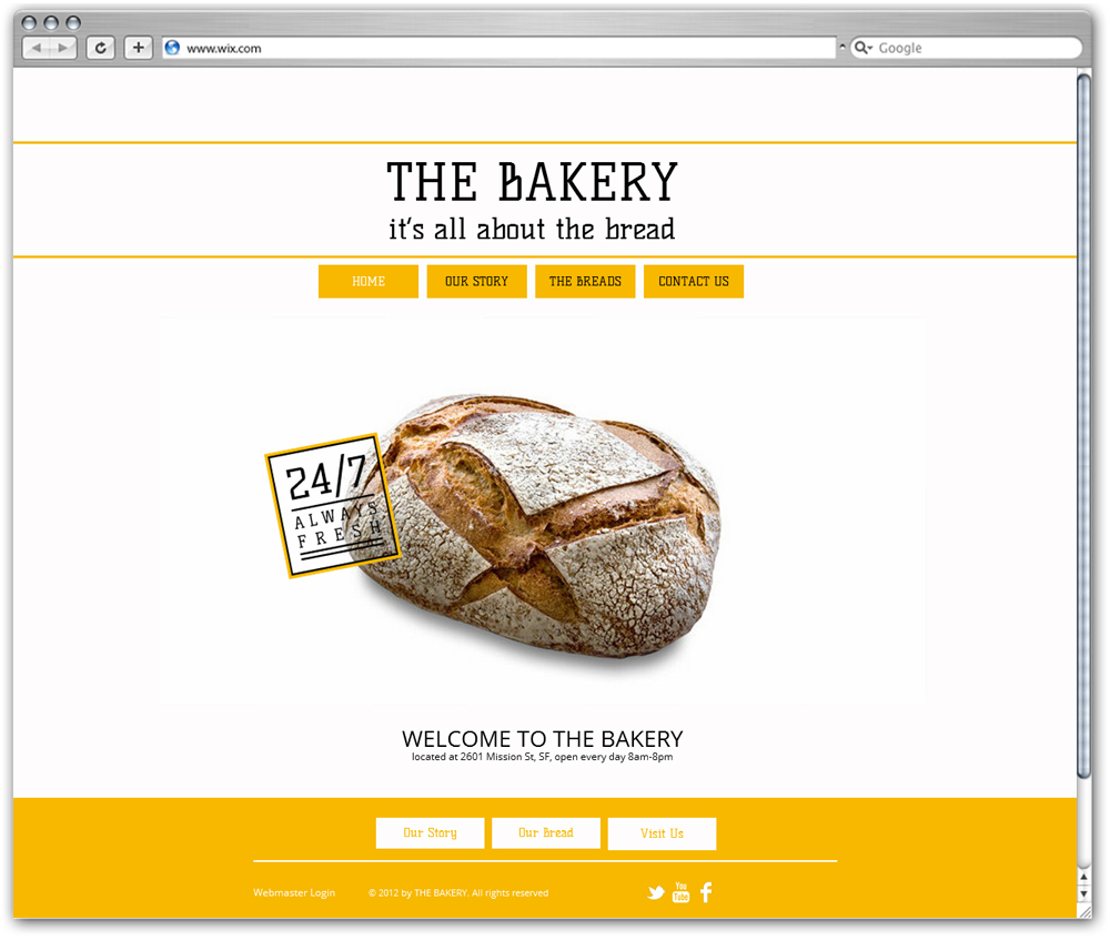 The Bakery Wix Template