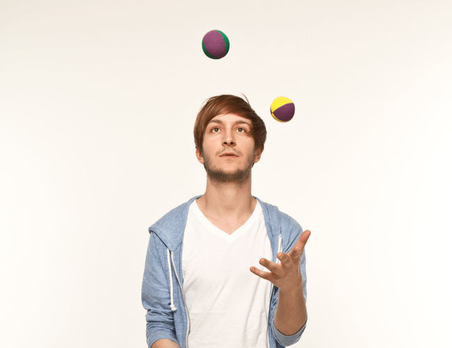 Young Guy Juggling