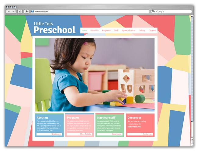 wix Preschool Template