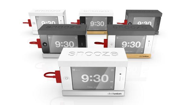 Snooze the iphone alarm clock