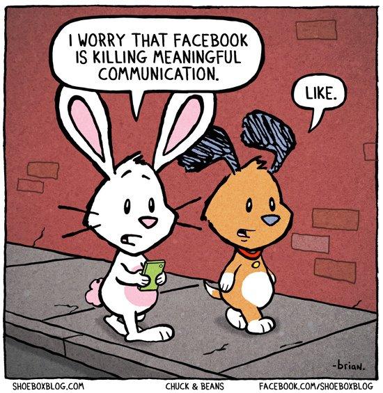 Facebook kills communication?