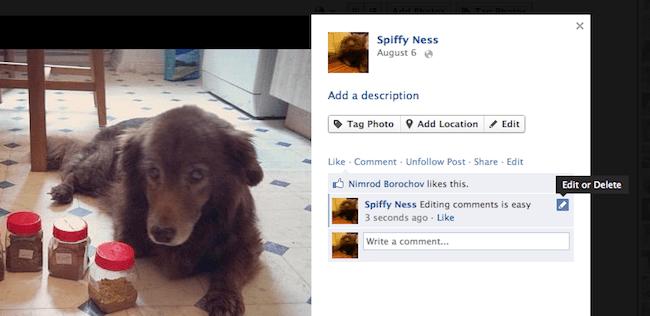 Edit Facebook comments
