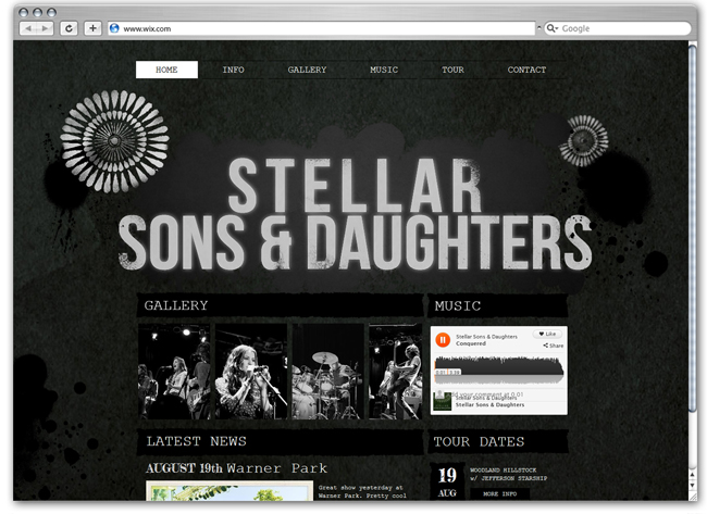 Showcase of Amazing Music Websites