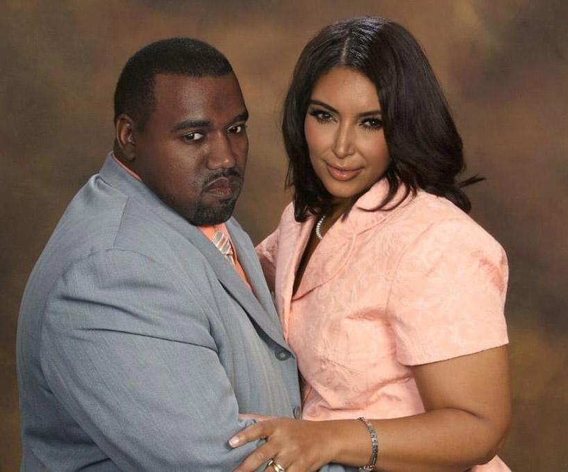 Kanye and Kim Kardashian