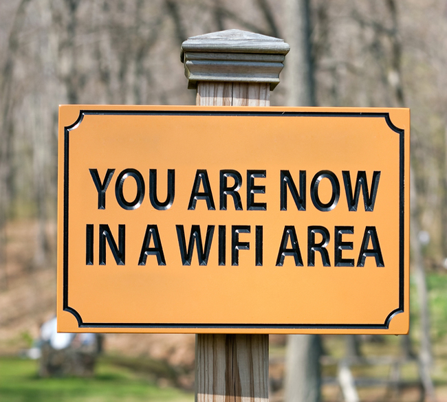 Wifi-zone street sign