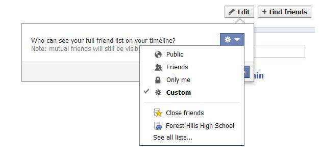 How to Get Your Facebook Account Under Control - Who sees your friends