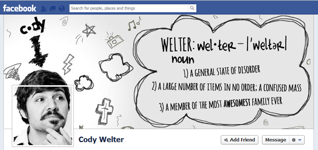 Facebook Cover By Cody Welter